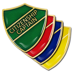 Citizenship Captain Shield Badge by School Badges UK