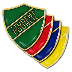 Student Council Shield Badge by School Badges UK