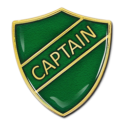 Captain Shield Badge by School Badges UK