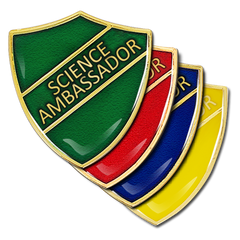 Science Ambassador Shield Badge by School Badges UK