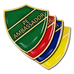 PE Ambassador Shield Badge by School Badges UK