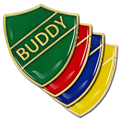 Buddy Shield Badge by School Badges UK