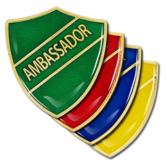 Ambassador Shield Badge by School Badges UK