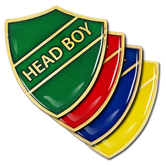 Head Boy Shield Badge by School Badges UK