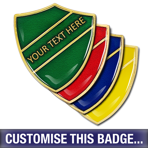 Personalised Enamelled Shield Badge