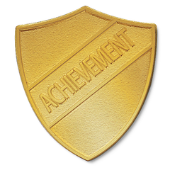 Achievement Metal Shield Badge by School Badges UK