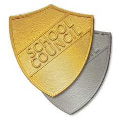 School Council Metal Shield Badge