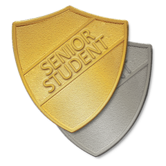 Senior Student Metal Shield Badge by School Badges UK