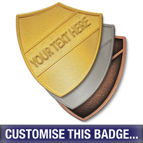 Personalised Metal Shield Badge