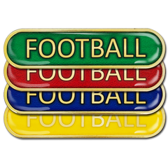 Football Bar Badge by School Badges UK
