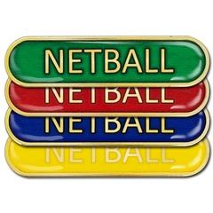 Netball Bar Badge by School Badges UK