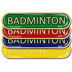 Badminton Bar Badge