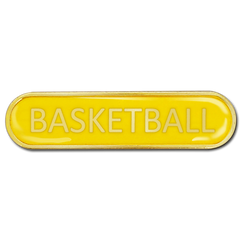 Basketball Bar Badge by School Badges UK