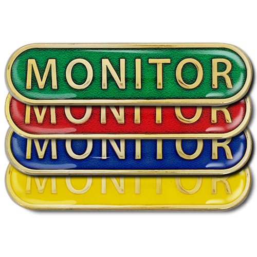 Monitor Bar Badge by School Badges UK