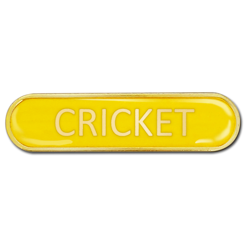 Cricket Bar Badge by School Badges UK