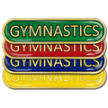 Gymnastics Bar Badge
