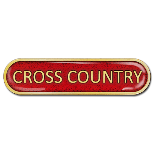 Cross Country Bar Badge by School Badges UK