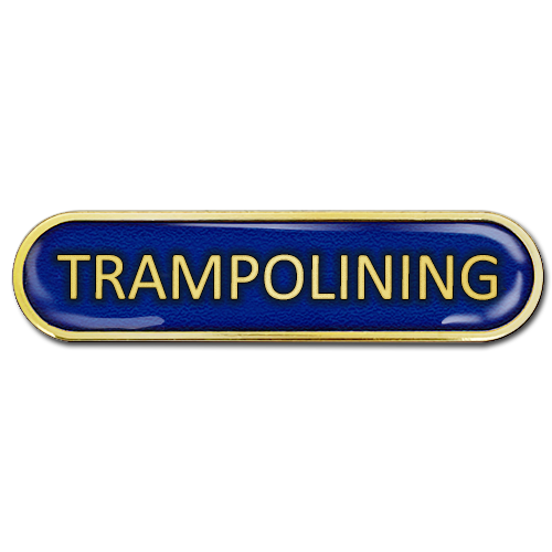 Trampolining Bar Badge