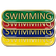 Swimming Bar Badge
