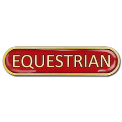 Equestrian Bar Badge by School Badges UK