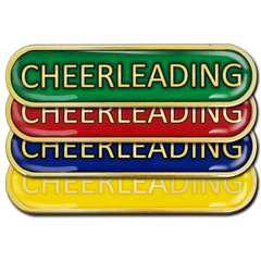 Cheerleading Bar Badge by School Badges UK
