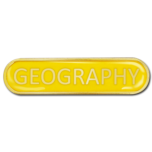 Geography Bar Badge by School Badges UK