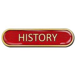 History Bar Badge by School Badges UK