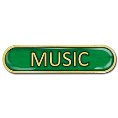 Music Bar Badge by School Badges UK