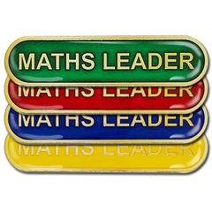 Maths Leader Bar Badge by School Badges UK