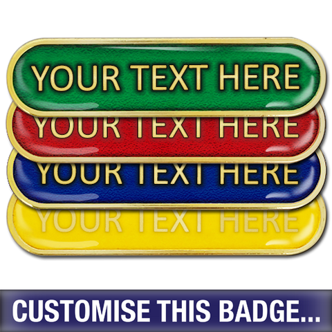 Personalised Enamelled Bar Badge