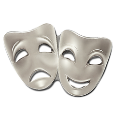 Drama Mask Badge by School Badges UK