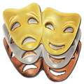 Drama Mask Badge