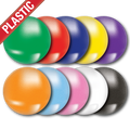 'Plain' Plastic Button Badge (Pack of 25)