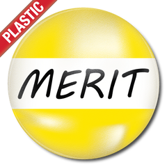 Merit Plastic Button Badge by School Badges UK