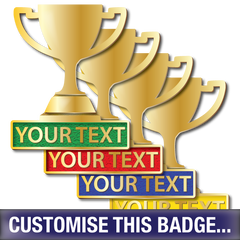 Personalised Trophy Badge by School Badges UK