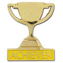 Achiever Trophy Badge by School Badges UK