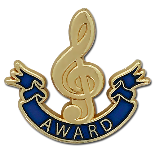 Music Clef Award Badge by School Badges UK