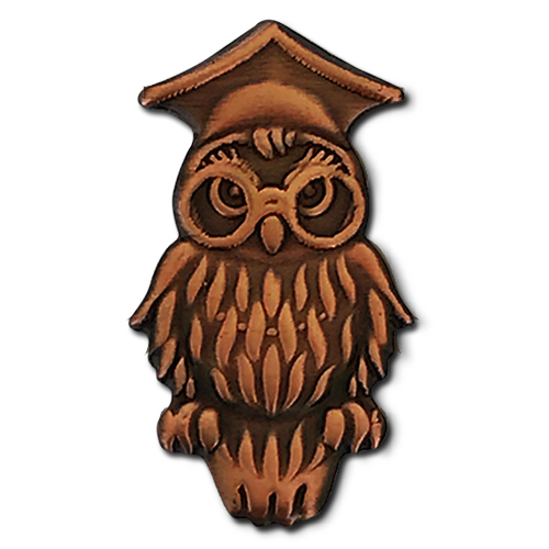 Wise Owl Badge by School Badges UK