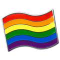 Rainbow Pride Flag Badge
