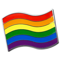 Rainbow Pride Flag Badge by School Badges UK