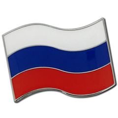 Russian Flag Badge by School Badges UK