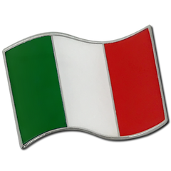 Italian Flag Badge by School Badges UK