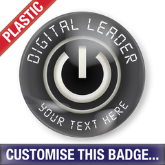Personalised Plastic 'Digital Leader' Button Badge by School Badges UK