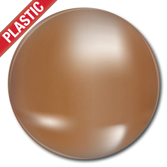 'Plain' Metallic Plastic Button Badge (Pack of 25) by School Badges UK