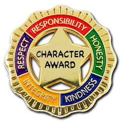 Character Award Badge by School Badges UK