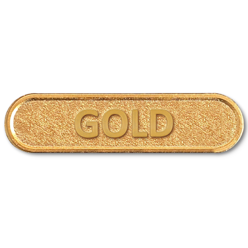 Gold Metal Bar Badge