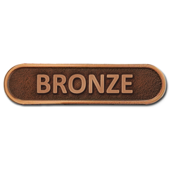 Bronze Metal Bar Badge