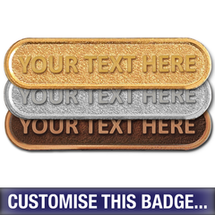 Personalised Metal Bar Badge