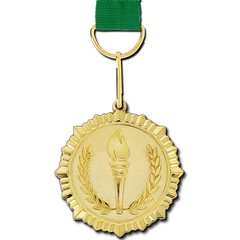 Olympic Torch Gold Medal by School Badges UK