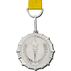 Olympic Torch Silver Medal by School Badges UK